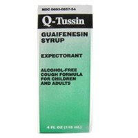 Q Tussin Syrup 8 Oz Qualitest By Par Pharmaceutical