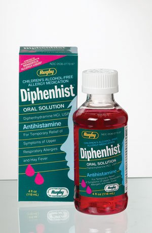 Diphenhist 12.5Mg 5Ml Solution 4 Oz By Major Rugby Labs