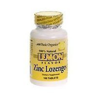 Basic Organics Zinc 15 mg With Lemon Flavor L ozenges 100