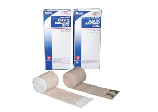 Dukal - Ace Elastic Bandage 3X 4.5Yd Latex 10 In Each : Box One: Box
