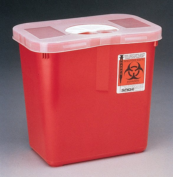 Image 0 of Sharps 8Qt W Rotor Opening Red 20 In Each: Case, One: Case