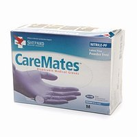 Caremates X Large Powered Free Vinyl Gloves 10 In Each : Case