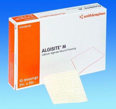 Image 0 of Smith & Nephew - Algisite-M Alginate Wound 2X 2 10 In Each : Box One: Box