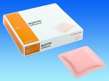 Image 0 of Smith & Nephew - Allevyn Adhesive Border 3X3 10 In Each : Box One: Box