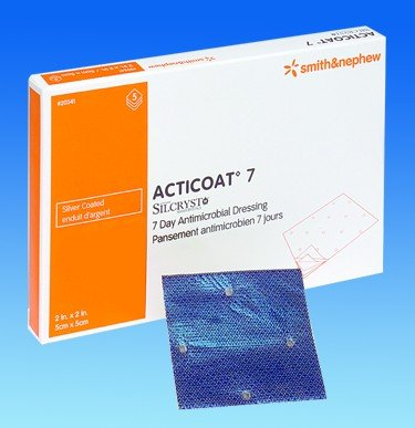 Image 0 of Smith & Nephew - Acticoat 7 Wound Dressing 4 X 5 St 5 In Each : Box One: Box