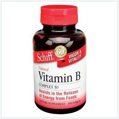 B Complex 50 mg 100 Cap 1 By Schiff Vitamins