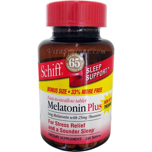Image 0 of Schiff Vitamins Melatonin Plus 180 Tablet