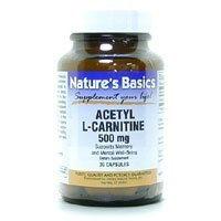 Acetyl L Carnitine 500 Mg 30 Vcap 1 By Natures Basics