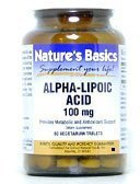 Alpha Lipoic Acid 100mg 60 Vtab 1 By Natures Basics