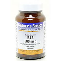 Image 0 of B-12 500Mcg 100 Tab 1 By Natures Basics