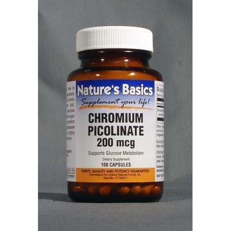 Image 0 of Chromium Picolnate 200Mcg 100 Cap 1 By Natures Basics