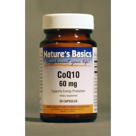 Image 0 of Co-Q-10 60mg 30 Cap 1 By Natures Basics