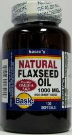 Image 0 of Flax Seed Oil 1000Mb 90 Sgel 1 By Natures Basics