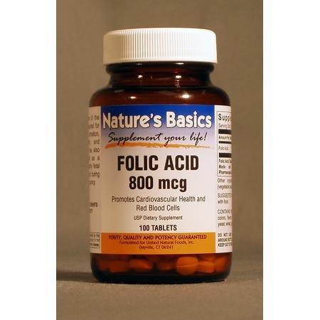 Image 0 of Folic Acid 800Mcg 100 Tab 1 By Natures Basics