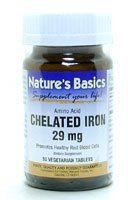 Image 0 of Iron 29mg Chelated 90 Vtab 1 By Natures Basics