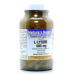 Image 0 of L-Lysine 500mg 100 Cap 1 By Natures Basics