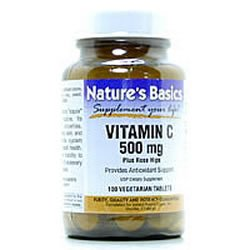 Image 0 of Vit C 500mg & Rosehips 250 Vtab 1 By Natures Basics