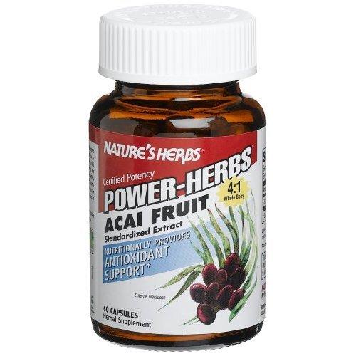 Acai Fruit Extract 60 Cap 1 By Natures Herbs