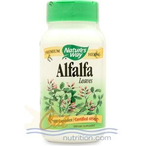 Image 0 of Alfalfa Leaves Organic 100 Cap 1 By Natures Way