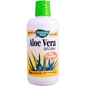 Image 0 of Aloe Vera Gel&Juice Organic Liter 1 By Natures Way