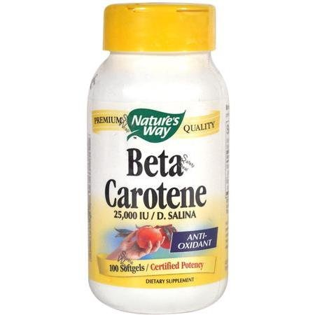 Image 0 of Beta Carotene 25000 Units Sgl 100 Cap 1 By Natures Way