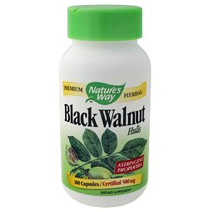 Image 0 of Black Walnut Hulls 100 Cap 1 By Natures Way