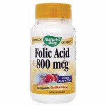 Image 0 of Folic Acid 800 Mcg 100 Cap 1 By Natures Way