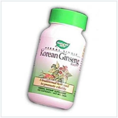 Image 0 of Ginseng Root Korean White 50 Cap 1 By Natures Way