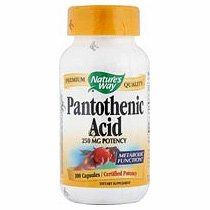 Image 0 of Pantothenic Acid 250mg 100Cap 1 By Natures Way