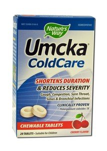 Image 0 of Umcka Cold Cherry Chewabl 20 Ct 1 By Natures Way