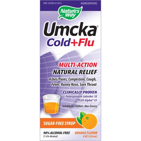 Image 0 of Umcka Cold&Flu Orng Syrup 4 oz 1 By Natures Way