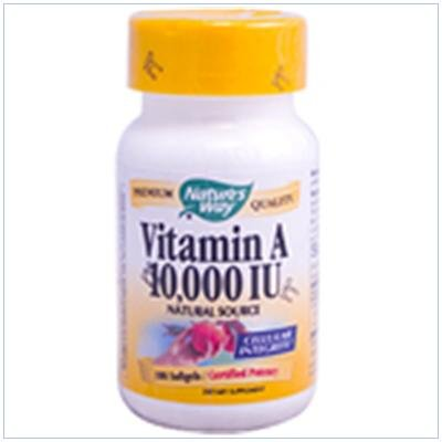 Image 0 of Vit A 10 000 Units Softgel 100Cap 1 By Natures Way
