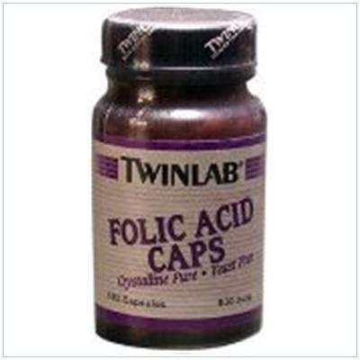 Image 0 of Folic Acid 800Mcg 100 Cap 1 By Twinlab