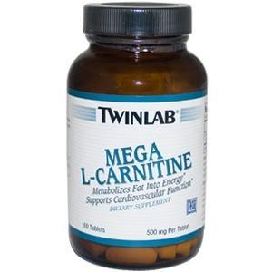 Image 0 of L Carnitine 500mg Mega  60 Tab  1 By Twinlab