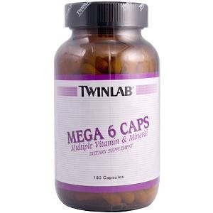 Image 0 of Mega 6 Caps 180 Cap 1 By Twinlab