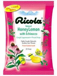 Image 0 of Ricola Echinacea Honey Lemon Lozenges 24 Each