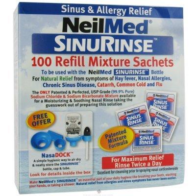 Neilmeds Sinus Rinse Regular Refill Premixed Packets 100