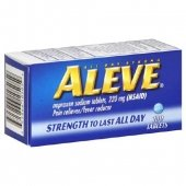 Aleve Naproxen Sodium Pain Reliever Tablets 100