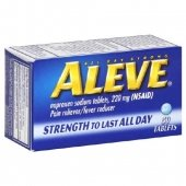 Aleve Naproxen Sodium Pain Reliever Tablets 50