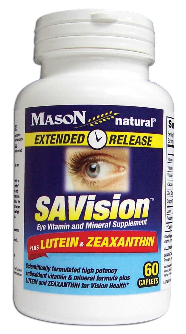 Image 0 of Savision Plus Lutein & Zeaxanthin Extended Release Caplets 60