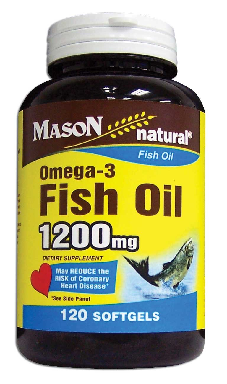 Image 0 of Omega-3 Fish Oil 1200mg Dietary Supplement Softgels 120