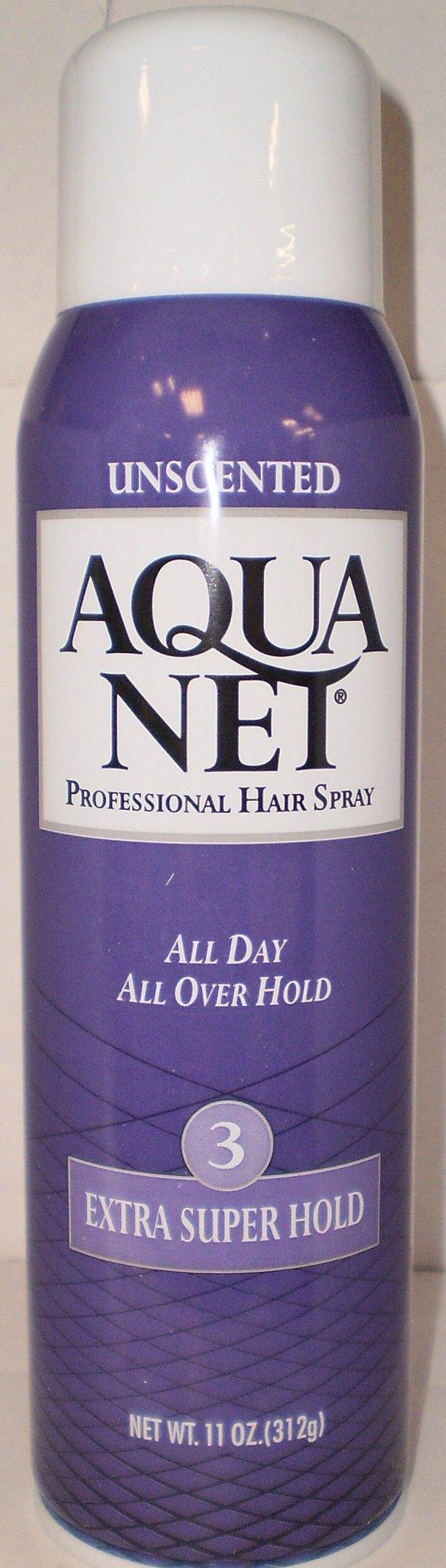 Aqua Net Extra Super Hold Unscented Hair Spray 11 Oz