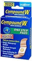 Image 0 of Compound W Wart Remover Invisible One Step Strips 14