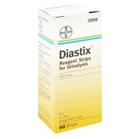 Diastix Reagent Strips For Urinalysis For Glucose 50 Ct