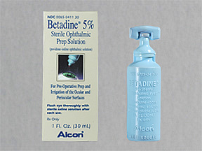 Image 0 of Betadine 5% Drops 30 Ml By Alcon Labs.