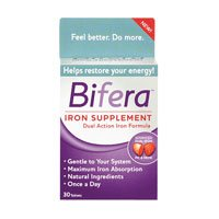 Bifera Dual Action Iron Supplement Tablets 30 Each