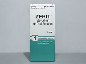 Zerit 1 mg/ml Powdered Oral Suspension 200 Ml. By BRISTOL-MYERS SQUIBB