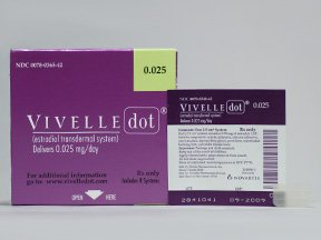 Vivelle-Dot .025 Mg Patches 3X8 By Novartis Pharma.