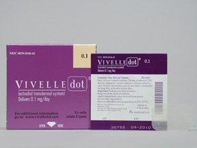Vivelle-Dot .1 mg/24Hr Patches 3X8 Mfg. By Novartis Pharmaceuticals