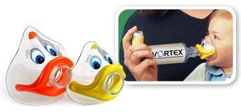 Vortex Holding Chamber With Child Mask Equipment 1X1 Mfg. By Pari Respiratory E